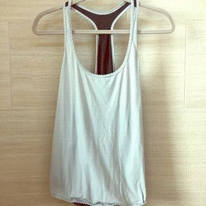 lululemon two-toned tank top